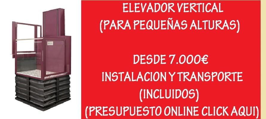 ELEVADOR VERTICAL DESDE 7000€