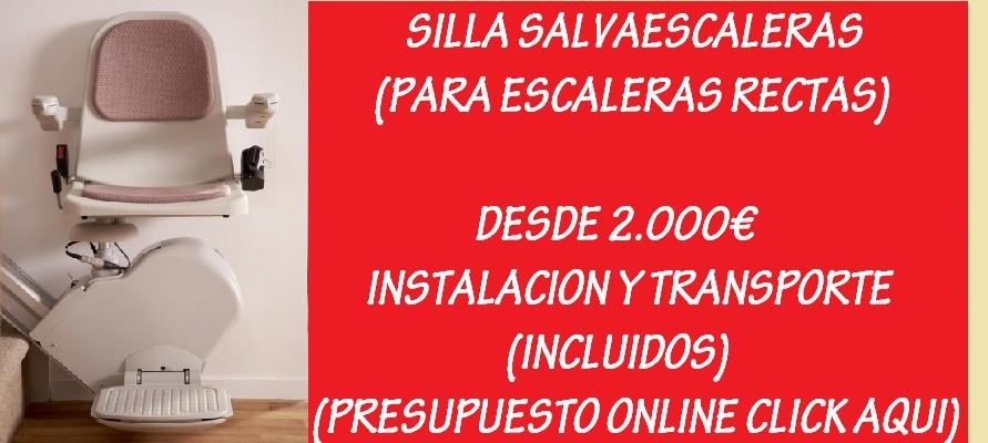 SILLA SALVAESCALERAS RECTA DESDE 2000€