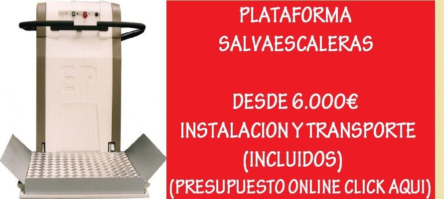PLATAFORMA SALVAESCALERAS DESDE 6000€
