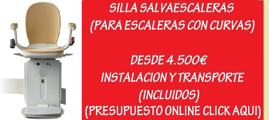 SILLA SALVAESCALERAS CURVA DESDE 4500€
